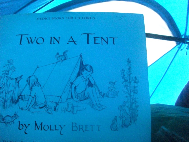 two in a tent in a tent