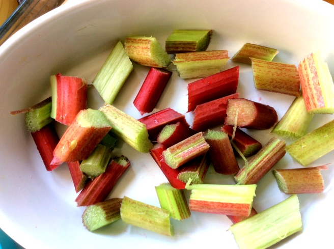 Rhubarb has such pretty Springy colors.