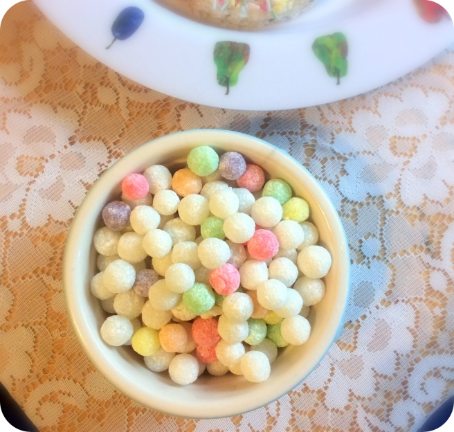 The uncooked tapioca pearls