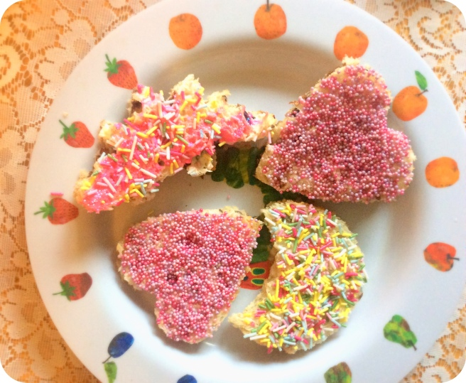 Yes I made Stegosaurus fairy bread.